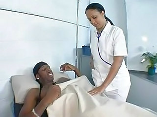 Ebony Interracial MILF Nurse Uniform