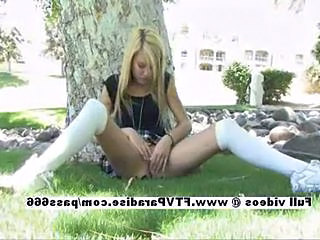 Amazing Masturbating Outdoor Public Teen