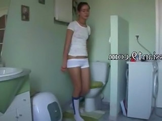 Russian Spanish Teen Toilet