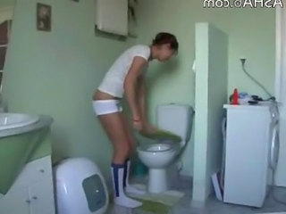 Amateur Russian Teen Toilet