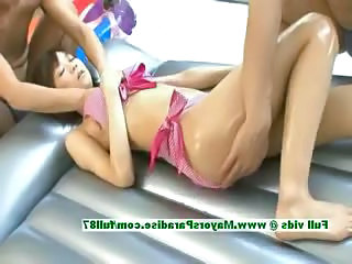 Asian Massage Oiled Teen Threesome