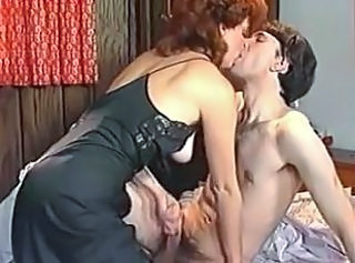 Handjob MILF Mom Old and Young Redhead Vintage