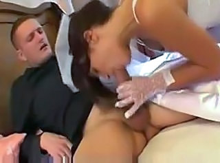 Blowjob Bride Clothed MILF