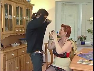 European German Lingerie Mature Redhead