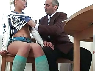 Blowjob Daddy Handjob Old and Young Teacher Teen