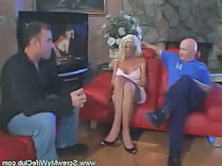 Old and Young Threesome Wife