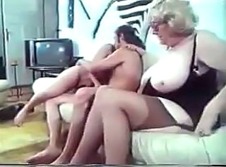 European German Granny Threesome Vintage