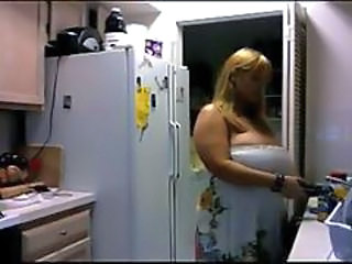Amateur BBW Big Tits Homemade Kitchen MILF Natural