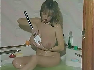 Amazing Bathroom Big Tits MILF Natural SaggyTits Vintage