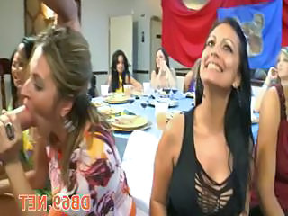 Big cock Blowjob CFNM Drunk MILF Party