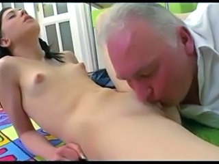 Licking Old and Young Skinny Small Tits