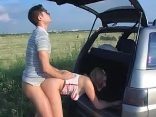 Car Doggystyle Outdoor Russian Teen