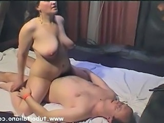 Big Tits European Italian Mature MILF Riding Wife