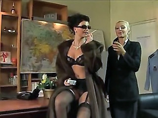 Lingerie MILF Smoking Stockings Vintage