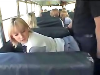 Blonde Bus Doggystyle Student Teen