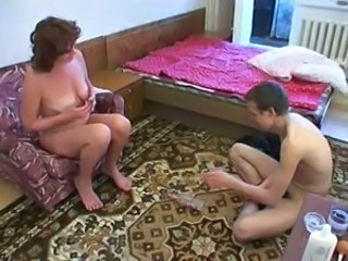 Mature Mom Old and Young Russian