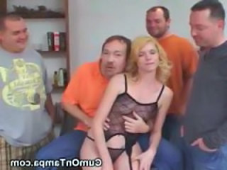 Amateur Gangbang Lingerie MILF Small Tits Wife