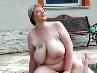 BBW Big Tits MILF Natural Riding SaggyTits Tattoo
