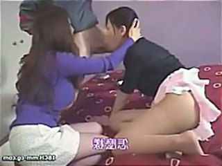 Asian Blowjob Clothed Japanese Pantyhose Threesome
