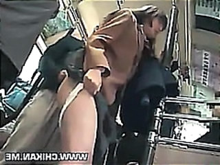 Asian Bus Clothed Public Teen