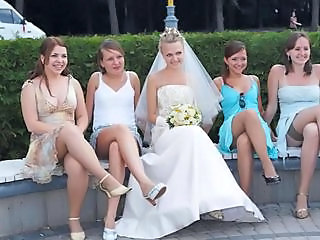 Bride Legs Outdoor Panty Pantyhose Stockings Teen Upskirt