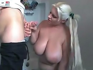 Bathroom BBW Big Tits Blowjob Long hair Natural