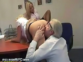 Office Old and Young Secretary Threesome