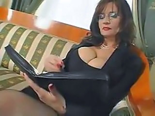 Big Tits Glasses Mature