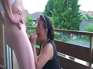 Amateur Blowjob Glasses Mature Outdoor Public