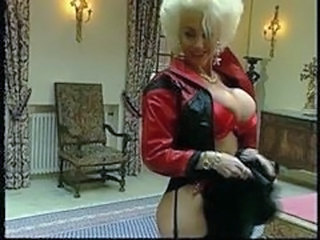 Amazing Big Tits Blonde Latex MILF Pornstar Vintage