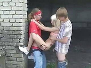 Amateur Outdoor Russian Skinny Small Tits Teen Threesome