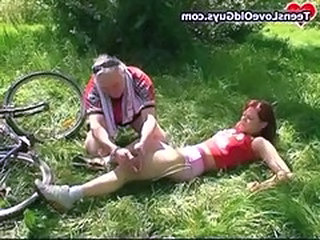 Daddy Old and Young Outdoor Teen