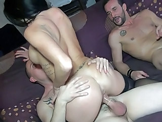 Ass Hardcore Riding Tattoo Threesome