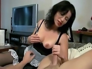 Handjob Maid MILF Uniform