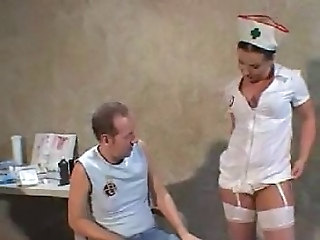 Amazing MILF Nurse Pornstar Stockings Uniform