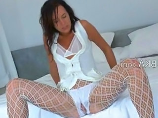 Amazing Fishnet Lingerie Teen