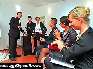 European Groupsex MILF Office Orgy Secretary