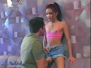 Asian Daddy Interracial Jeans Old and Young Small Tits Teen
