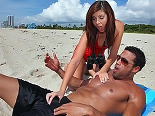 Beach Cute Handjob Outdoor Teen