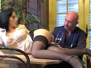Ass Brunette MILF Stockings Uniform