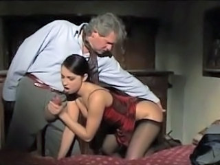 Blowjob Daddy European Italian Old and Young Stockings Vintage