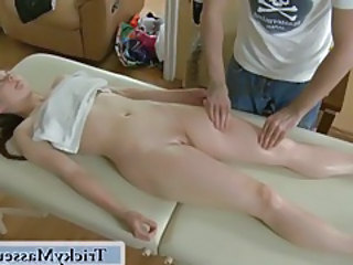 Massage Oiled Shaved Teen
