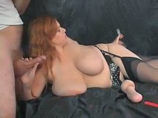 BBW Big Tits Blowjob MILF Natural Stockings