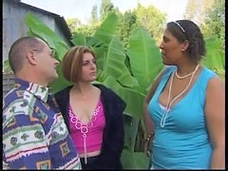 BBW Interracial Mature Outdoor