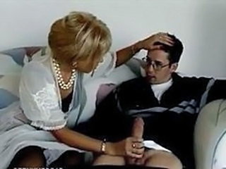 Blonde Handjob MILF Mom Old and Young