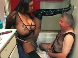 Big Tits Daddy Femdom Fetish Lingerie MILF Old and Young Slave