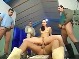 Gangbang Riding Teen
