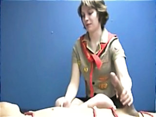 Handjob Teen Uniform