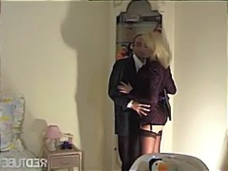Blonde MILF Old and Young Stockings
