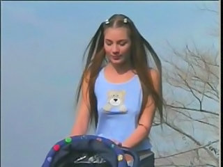 Babysitter Cute Long hair Outdoor Teen